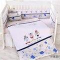 Newborn baby bedding cama kit alrededor bedding 100% algodón edredón desmontaje de piezas conjunto 100% algodón de otoño e invierno
