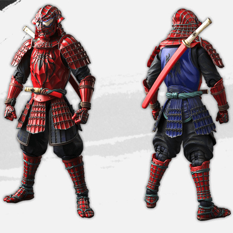 Spider Man Samurai Action Figure 1/8 Scale Painted Figure Samurai Spider-man Doll Pvc Figure Toy Brinquedos Anime Toys & Hobbies