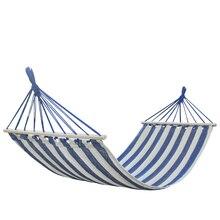 แบบพกพา Camping Garden Beach Travel เปลญวนกลางแจ้ง Ultralight สีสันสบายๆ Swing เตียง Rollover ป้องกันผ้าใบ stick hammock