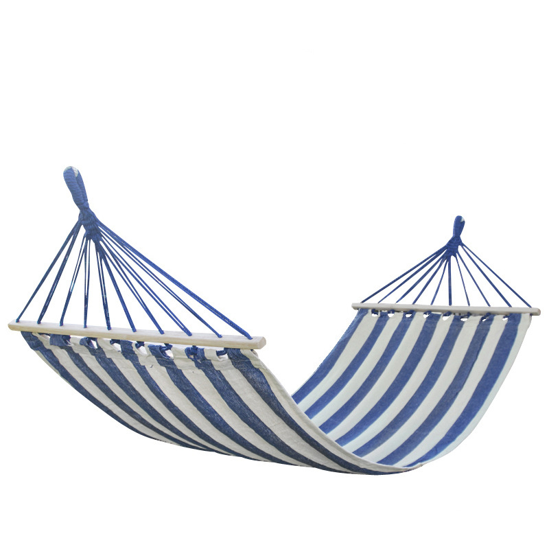 Portable Camping Garden Beach Travel Hammock Outdoor Ultralight Colorful casual Swing Bed Rollover-proof canvas stick hammock