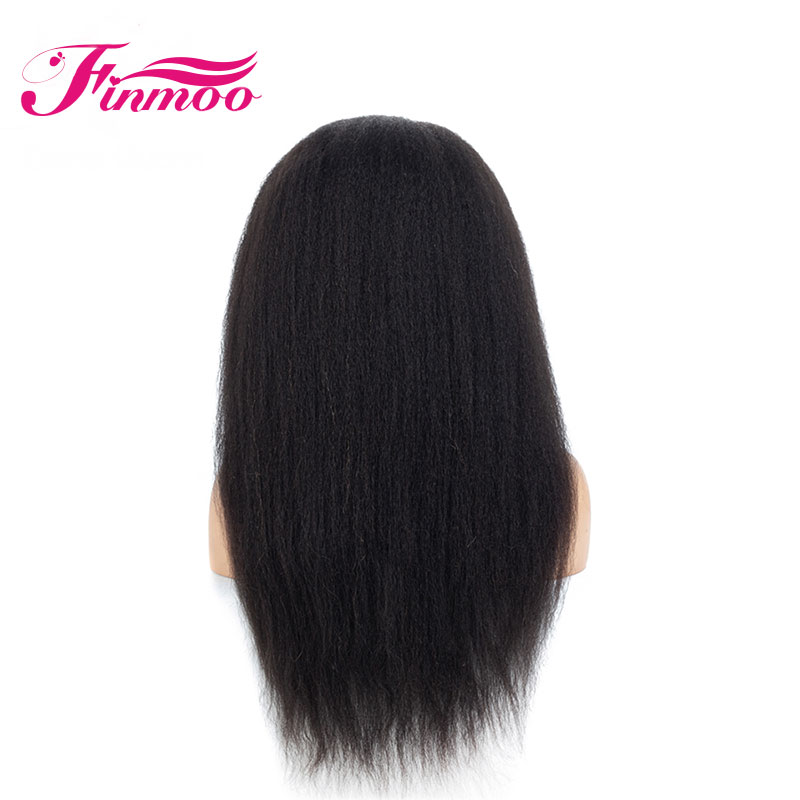360 Lace Front Human Hair Wigs Peruvian Remy Hair With Baby Hair Kinky Straight Pre Plucked