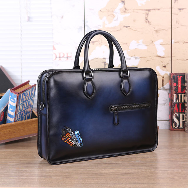 783e218acb55 DIMY new trend vintage Venezia men vintage leather handbags custom designer  handmade genuine leather briefcase personalize