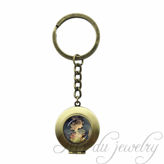 Old map art picture glass cabochon lockeet pendant world map key old map art picture glass cabochon lockeet pendant world map key chains steampunk locket key ring gumiabroncs Gallery
