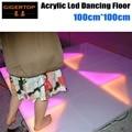 TIPTOP 1M*1M RGB Color Led Dance Floor Acrylic Panel Aluminum Frame ABS Basement DMX Control 7 Channels 960*5mm Leds 110V-240V