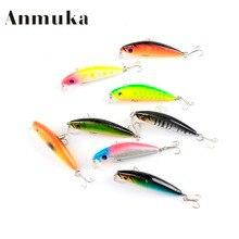 Anmuka Colorful Stripe Pattern 66cm 7.5g Hard Bait Minnow Streak Fishing Lures Bass Fresh Water Hook Diving Perch Wobbler Fish