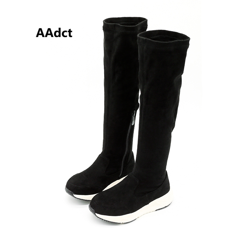 AAdct autumn soft sole girls boots 2017 new fashion kids high boots Brand High quality children boots