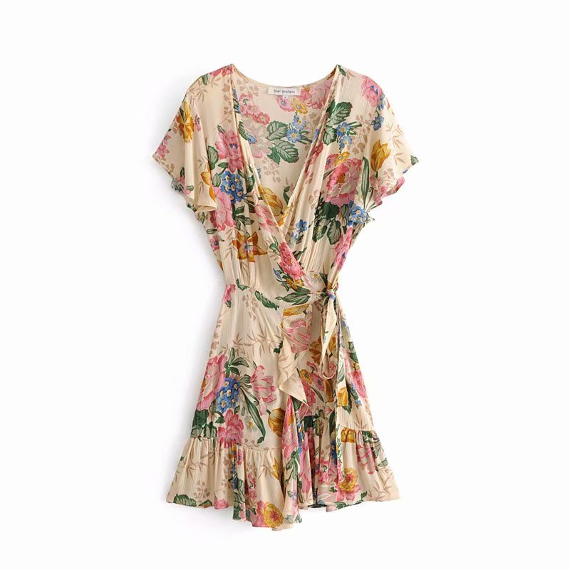 2377bb2a6f65b US $19.19 Jastie Ethereal Lily Maxi Dress V Neck Wrap Dresses Boho ...