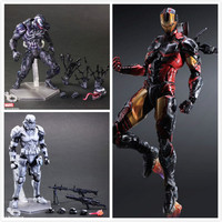 Anime Character 3pcs Set Star Wars Removable White Darth Vader Avengers Spider Man Iron Man Action