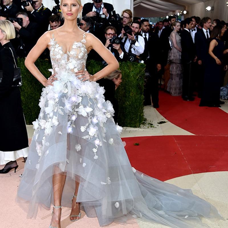 Inspired Met Gala Celebrity Dresses High Low Y Hot Light