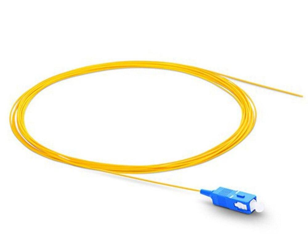 1m 50pcs SC UPC Fiber Optic Pigtail Simplex 0.9mm PVC Jacket Fiber Cable