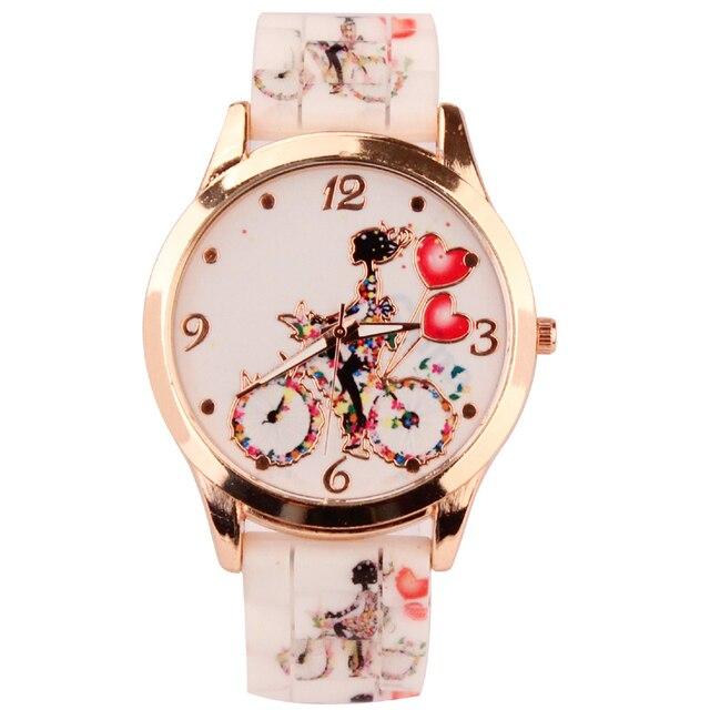 808fb1495 Caliente venta relojes geneva y relojes de pulseras y silicona dorado  cristal piedra quatrz reloj sus
