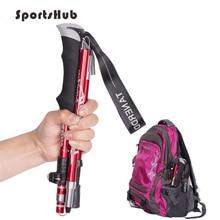 EVA Handle 4-Section Adjustable Walking Sticks Canes Hiking Poles Trekking Poles Alpenstock for Outdoor Crutches 1PC SES0046