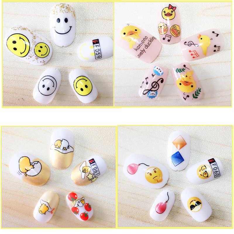 Unhas DIY accessoires adesivo papel da folha de adesivos de unhas SORRISO desenhos animados de unha nagels spulletjes suprimentos YHS54 manicur