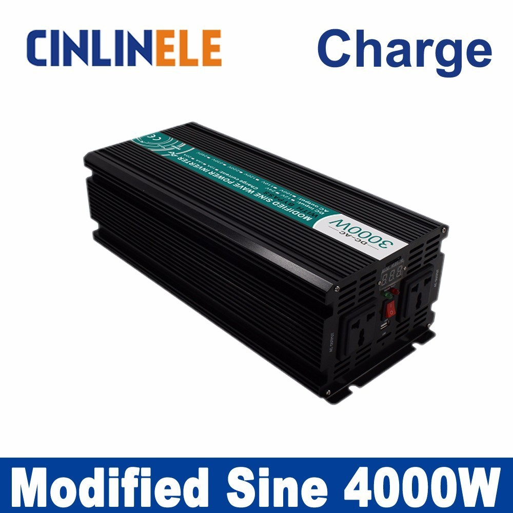 Universal inverter Charge 4000W Modified Sine Wave Inverter CLM4000A DC 12V 24V 48V to AC 110V 220V 4000W Surge Power 8000W