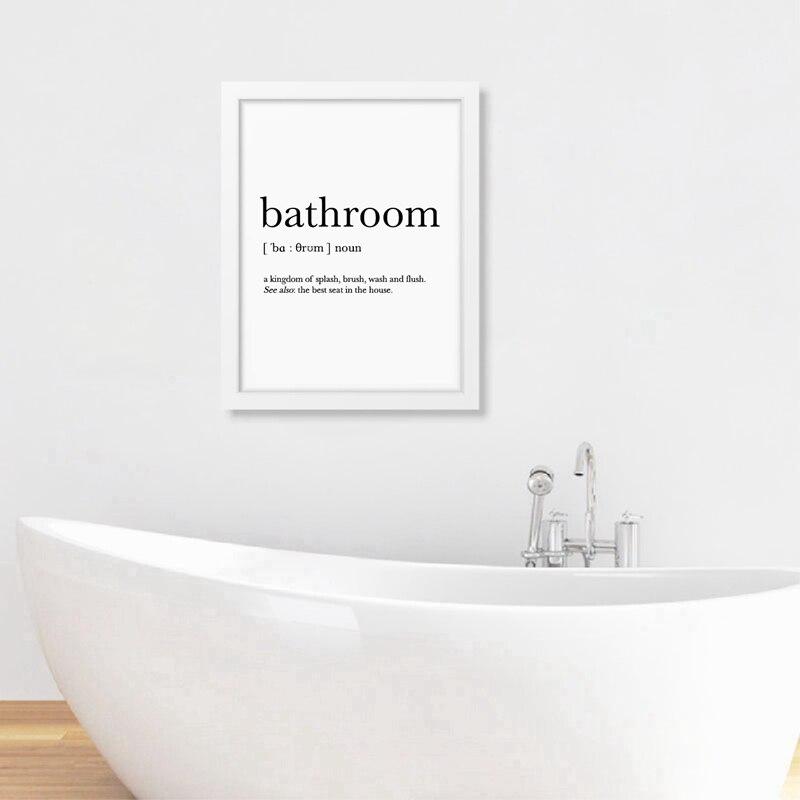 Bathroom Signs Wall Art Print