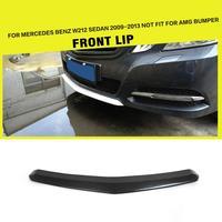 Carbon Fiber Car Front Bumper Center Lips Car Spoiler for Mercedes Benz E Class W212 E200 E260 E300 2009   2012|Bumpers|Automobiles & Motorcycles -