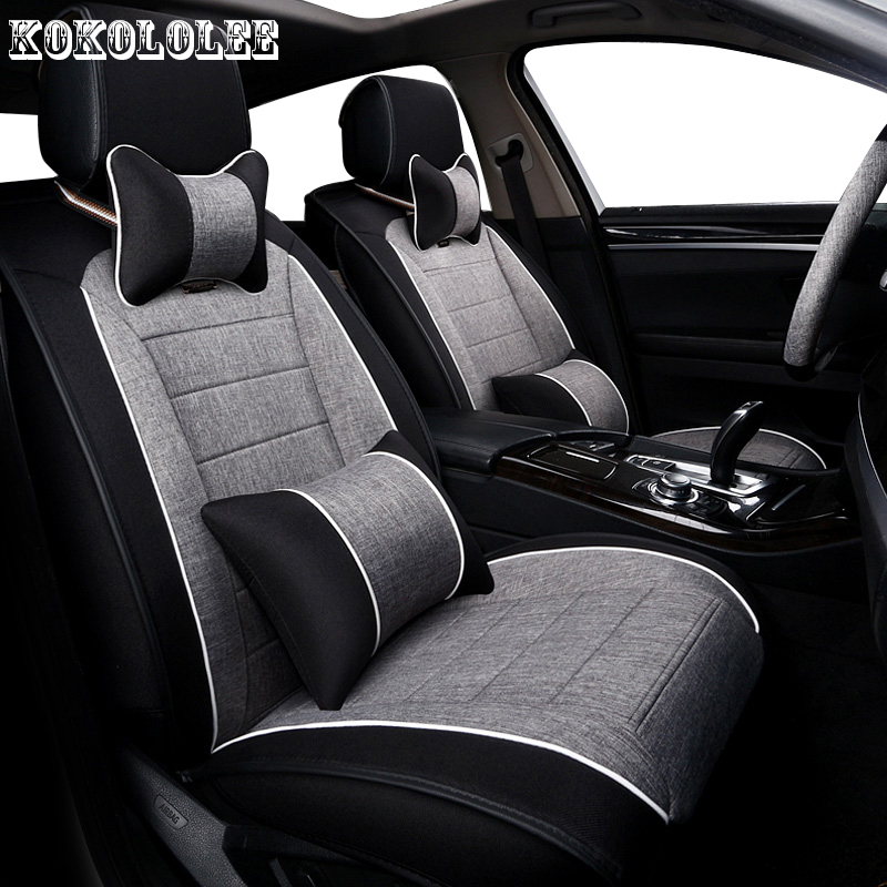 KOKOLOLEE Universal auto linen Car seat cover For Subaru forester Outback Tribeca heritage xv automobiles car accessories style linen universal car seat cover for dacia sandero duster logan car seat cushion interior accessories automobiles seat covers