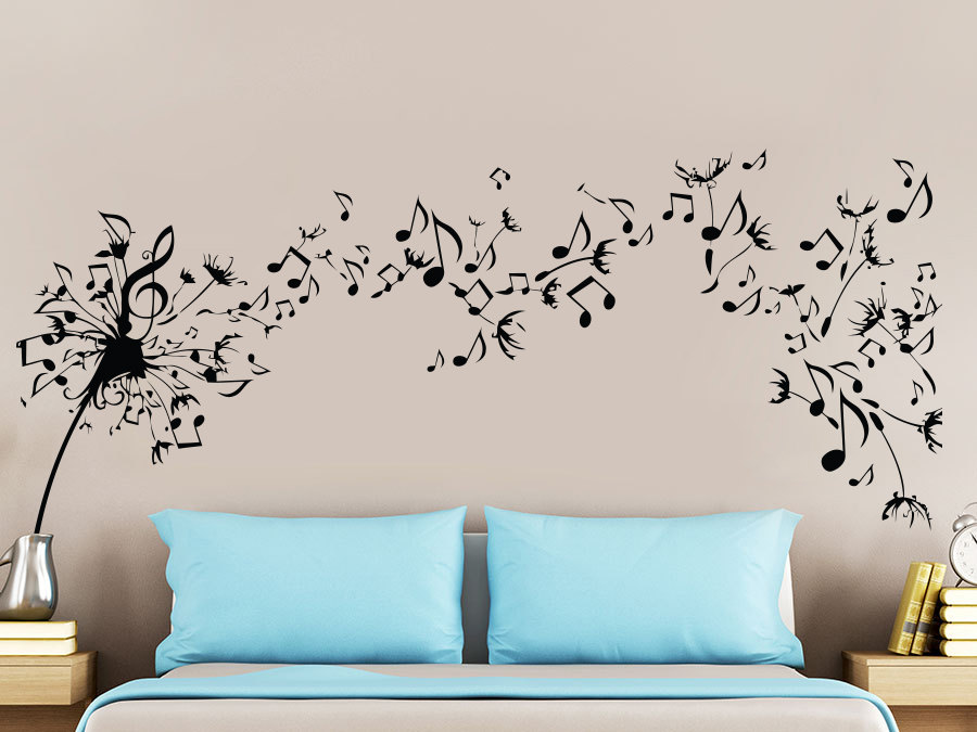 Beautiful Musical Quotes Flying Pattern Wall Stickers Home Livingroom <font><b>Fashion</b></font> <font><b>Style</b></font> Modern Vinyl Music Wall Murals WM-059