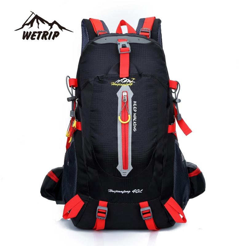 40L Outdoor Backpack Unisex Travel Climbing Backpacks Waterproof Rucksack Mountaineering font b bag b font Nylon