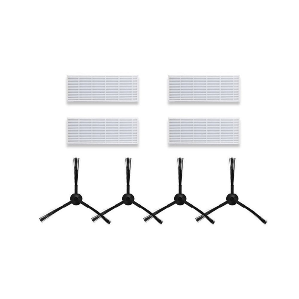 8pcs/lot side brush x2 pair+hepa filter x4 pcs Replacement Kits for ILIFE A6 A4 A4s Robot Vacuum Cleaner Parts доска для объявлений dz 1 2 j8b [6 ] jndx 8 s b