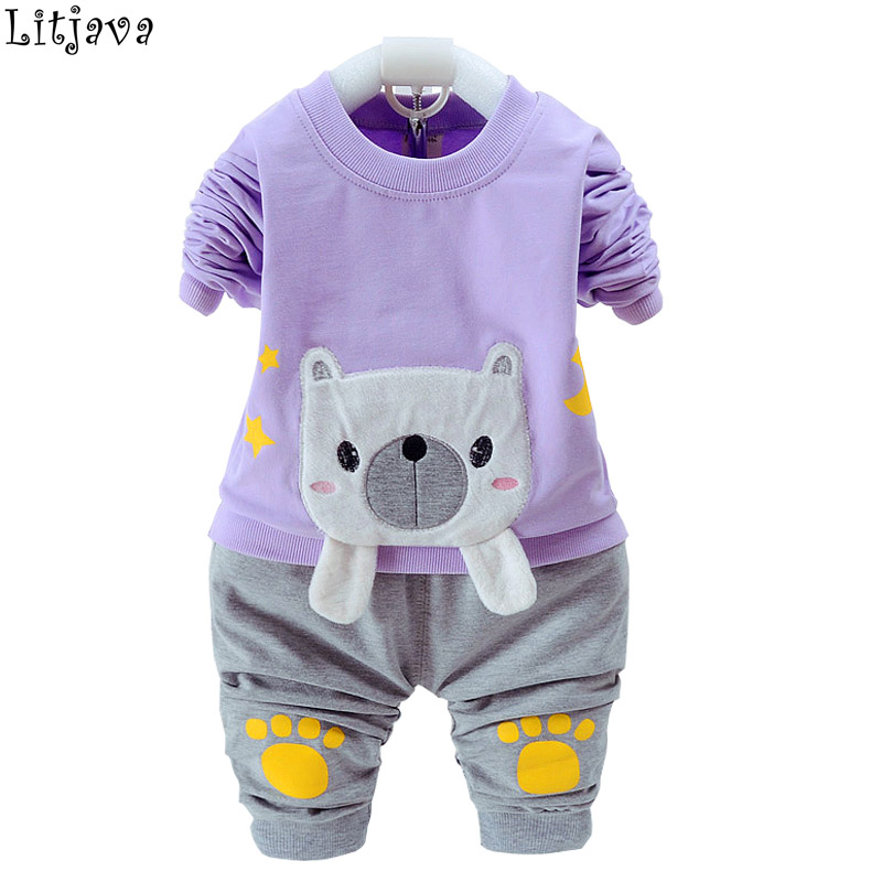 Photography Baby Born Clothes 2 Piece Sets 2017 Fall Winter Long Sleeve Tops+ Pants Kids Party Suit for Bebes Christmas Baby Set