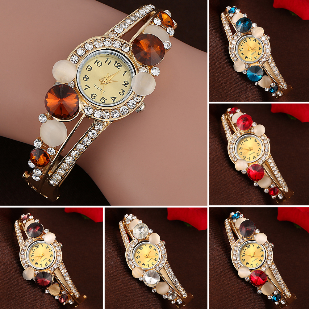 6 Colors Fashion Women\'s watch Rhinestone Crystal Watches Flower reloj mujer Bangle Bracelet Watches Analog Quartz Ladies Watch luxury women rhinestone bangle crystal flower bracelet quartz wrist watch men fashion sale hot style selling