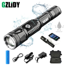 цена Rechargeable LED Flashlight Super Bright 5 Light Mode Zoomable Waterproof Tactical Torch Can Charge The Phone Use 18650 Battery онлайн в 2017 году