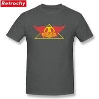 Color Aerosmith Swing T Shirts Mens Short Sleeve Eco Cotton Pop Heavy Metal Hard Rock Concert