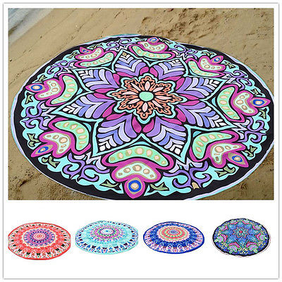 Round Bohemian Mandala Hippie Beach Tapestry Throw Towel Indian Roundie Yoga Mat Home Decor