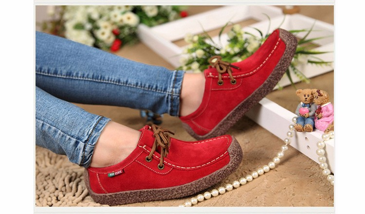 Hot Sale 2016 Winter Warm Women Flats Leisure Solid Comfortable Women Casual Shoes New Fashion Wild Lace-up Ladies Shoes SDT90 (6)