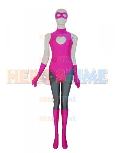 Hot Pink Spandex Custom Superhero Costume Cosplay Suit New Design zentai suit custom made available