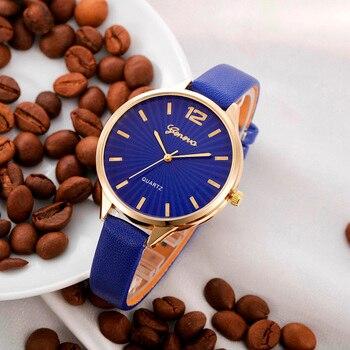 2019 New Arrival watch women Faux lady dress watch, women's Casual Leather quartz-watch Analog women's gifts Relogio Feminino
