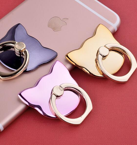 3D Cartoon Cat 360 Degree Finger phone Ring Mobile Phone Smartphone Stand Holder For iPhone 6S 7 Samsung Xiaomi Huawei LG Sony