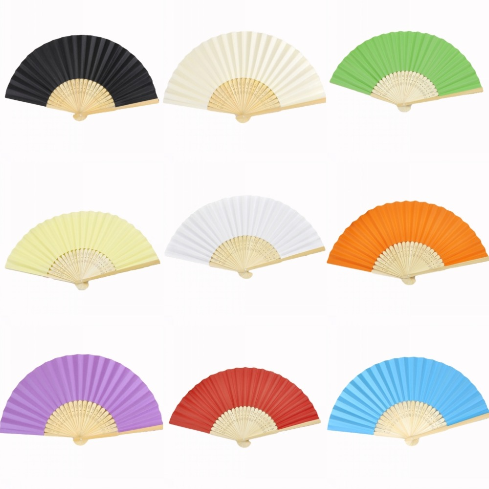 Aliexpress.com : Buy 50pcs*Ladies Bamboo & Paper Fan Hollow Out Hand ...