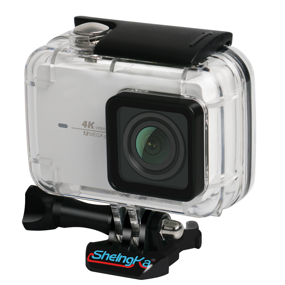 Top Deals ShelngKa Diving Protective Housing Waterproof Case 40m for Xiaoyi 4K Xiaomi II Yi Lite Action Camera with Bracket in Sports Camcorder Cases from Consumer Electronics