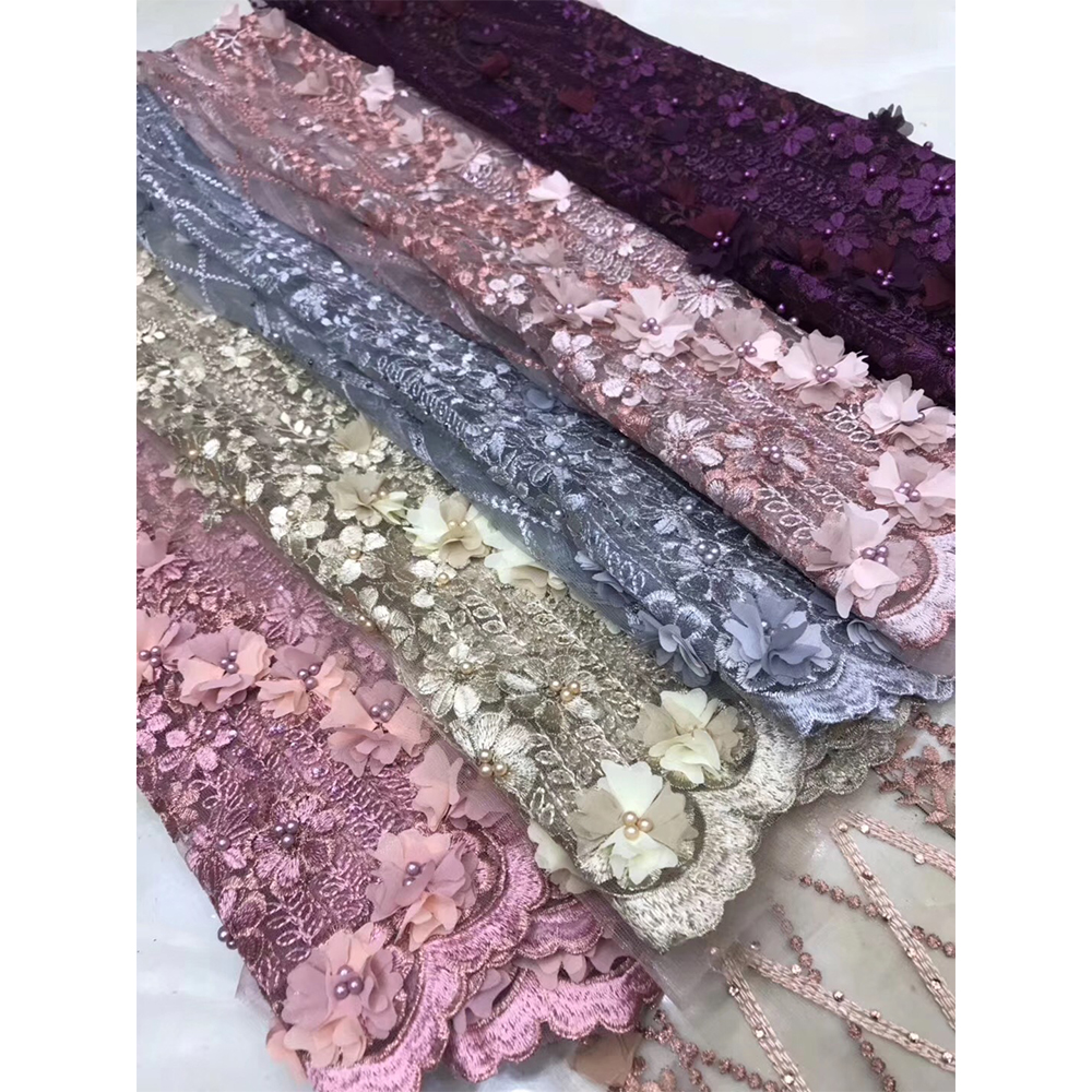 New Arrival African Laces Fabrics Embroidered Nigerian Guipure French Lace Fabric High-quality African French Net Lace Fabric(China)