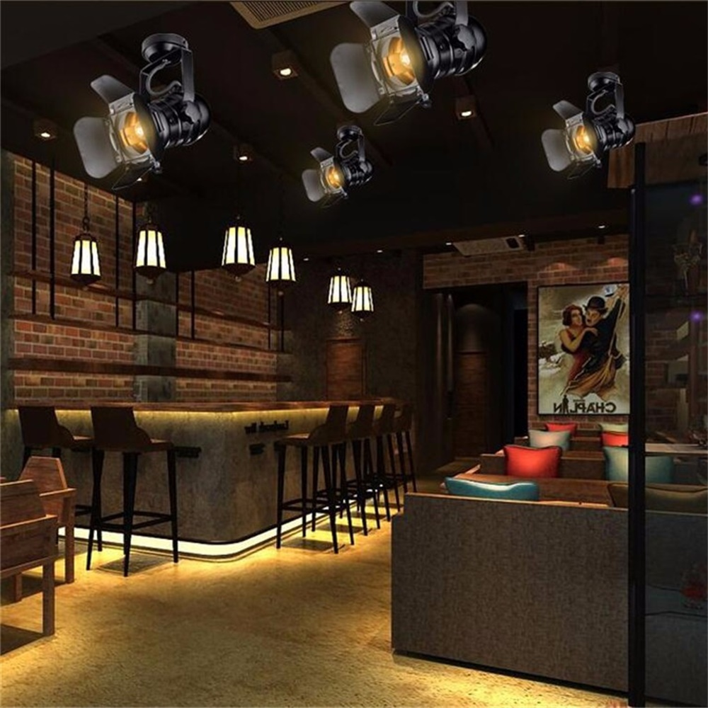 Lamparas De Techo Con Luces Led Us 88 36 Loft E27 Iron Industrial Ceiling Lamp Lamparas De Techo Luces Led Para Casas Living Room Lights Light Fixtures Plafonnier Luz 48 In Ceiling