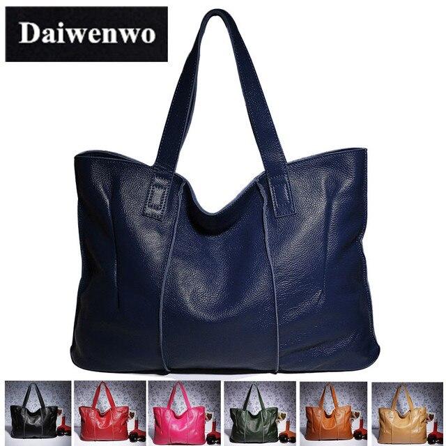 J22 100% Bolso Grande de Cuero de Las Mujeres de Cuero Genuino Bolsos de Marca Famosa Mujeres Messenger Bags Grandes Señoras Bolsa de Hombro Bolsos de Mujer