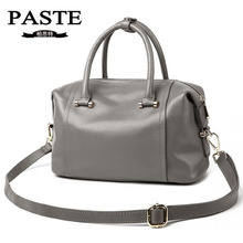 New Natural Cowhide Lady Portable Bag Fashion Brand PASTE Genuine Leather Wome's Messenger Bags Casual Tote Shoulder Bag Handbag