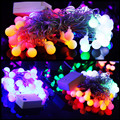 LED String Light Festoon Bulb Blade Light Ball Exterior Electric Christmas Decorative Tree Camping Bistro Curtain Lamp Colorfull