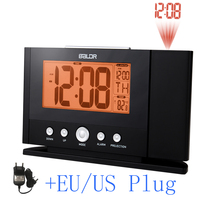 2016 Projection Alarm Clock Projecting To Wall Ceiling Display Weekday Temperature Orange Backlight Clocks Modern Time