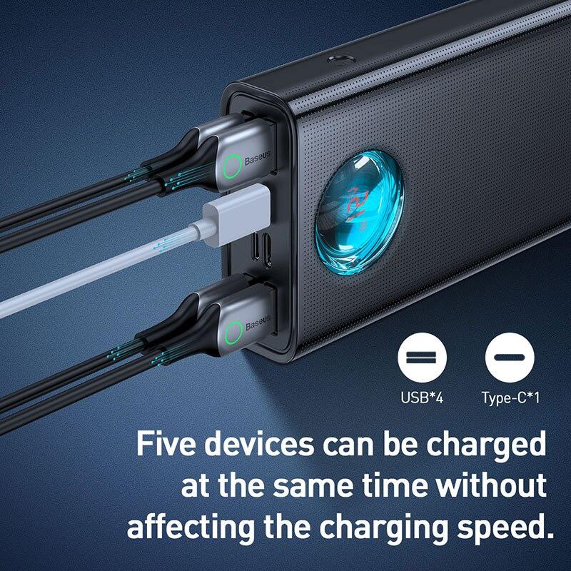Baseus batterie externe 30000mAh Type-c PD 3.0 Chargeur rapide Pour iPhone Charge Rapide 3.0 Externe chargeur de batterie portable Pour Xiaomi Samsung - 3
