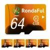 Rondaful Full Capacity 128GB Memory Card 8GB Micro Sd Card 64GB TF Card 32GB 16GB