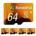 Rondaful tarjeta de memoria de la capacidad plena 128 gb 8 gb tarjeta sd micro 64 gb TF tarjeta de 32 GB 16 GB Tarjeta Microsd Class10 de Alta Velocidad para MP3 teléfono