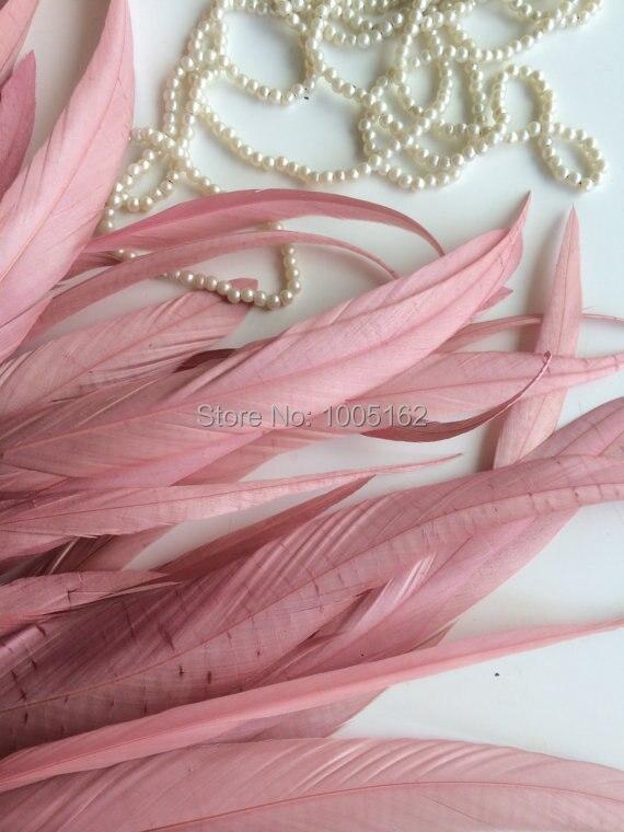 무료 배송 500 pcs 12 14 inch (30 35 cm) 로즈 핑크 coque 깃털 수탉 꼬리 깃털 의상 공예품에 대한 느슨한-에서깃털부터 홈 & 가든 의  그룹 1