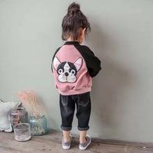 JENYA 2017 Autumn Winter Plus Velet Cartoon Dog Outwear Boys Girls Children Clothing Kids Jacket Infant Baby Clothes