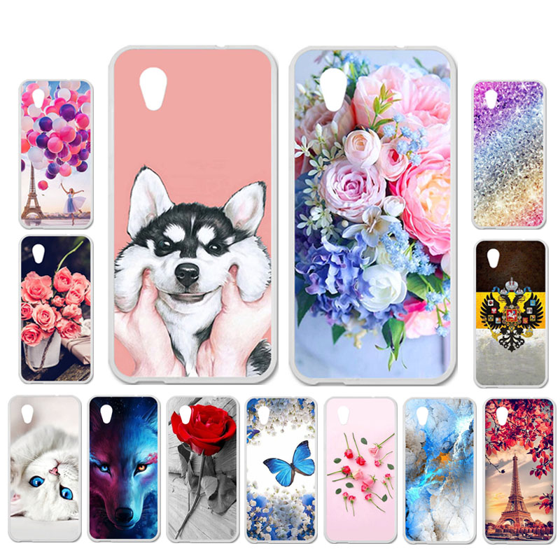 Ojeleye DIY Patterned Silicon Case For Alcatel 1 1C 1X Case Soft TPU Cartoon Phone Cover Bags Anti-knock Shell