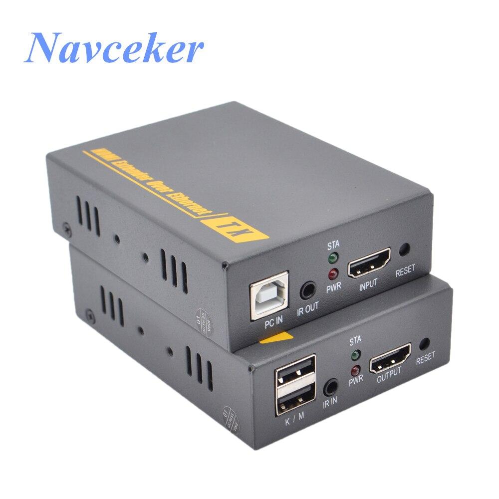 ZY-DT103KM HD USB HDMI Extender KVM Sobre IP 20 ~ 60 khz IR RJ45 CAT5 CAT6 Por UTP Extensor KVM 500ft KVM Extensor HDMI Sobre IP/TCP