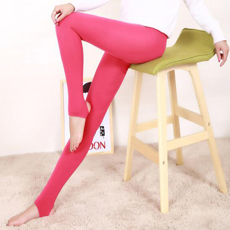 Hot Sale Multicolor Step On The Foot Legging Autumn Winter Women's Leggings Pants Warm Pants Fitness Step Foot Female Gifts