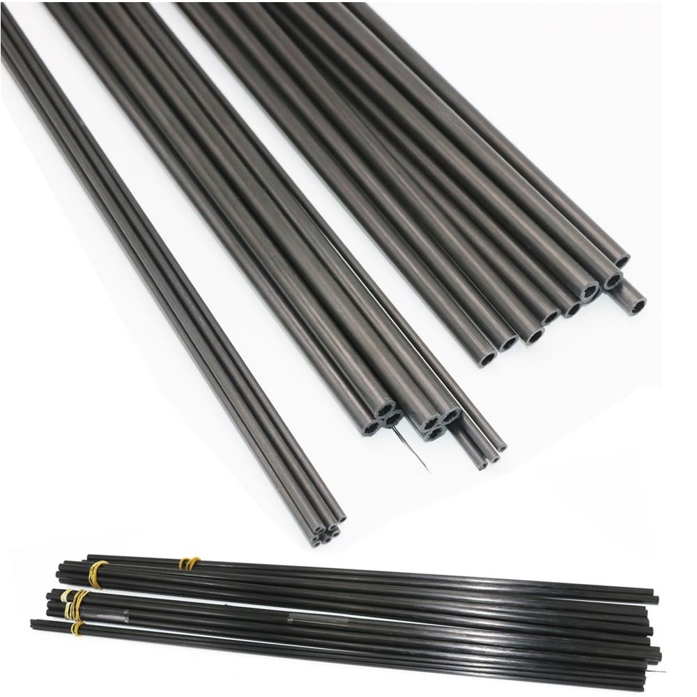 16pcs/lot New Carbon Fiber Tube 3K  For Quadcopter Multicoptor 3mm / 4mm / 5mm / 6MM / 7MM / 8MM /10MM  (0.5meter/pcs) Wholesale